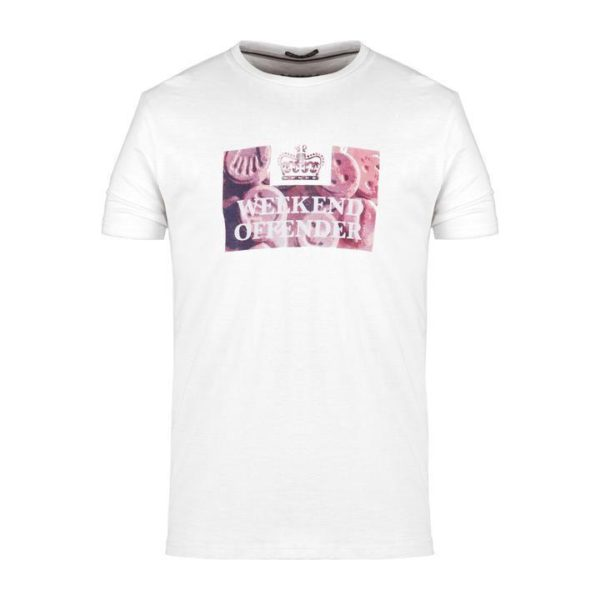 Weekend Offender Doves Tee - White (PTSS1908)
