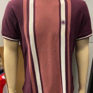 Pretty Green Texture Colour Block T-Shirt - Red (A9GMU15000044)