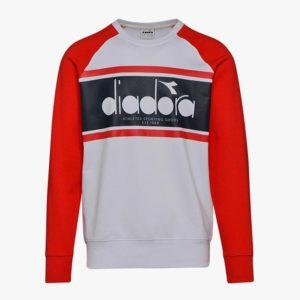 Diadora Spectra Crew Sweatshirt - Ivory White/Tomato Red (502.173626 01)