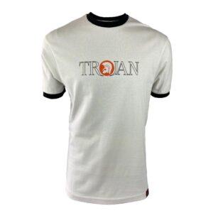 Trojan Outline Logo Tee - Ecru (TR/8623)
