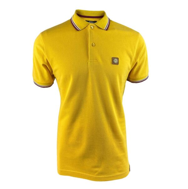 Trojan Badged Pique Polo - Mustard (TC/1007)