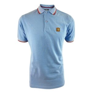 Trojan Badged Pique Polo - Sky (TC/1007)