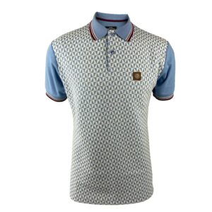 Trojan Diamond Front Panel Polo -Sky (TR/8616)
