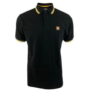Trojan Badged Pique Polo - Black (TC/1007)