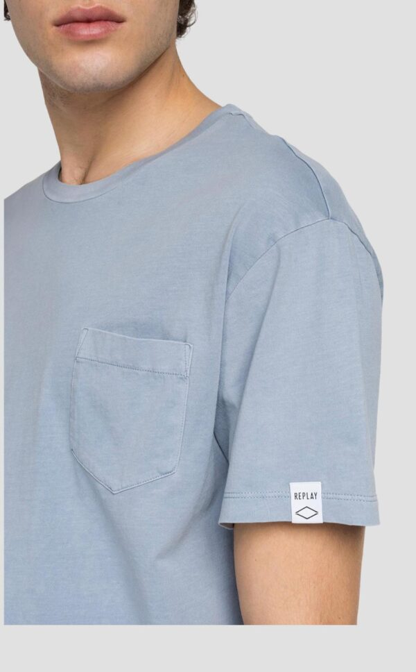 Replay Essential Crewneck T-Shirt in Cotton - Periwinkle (M3350 .000.23100G.)