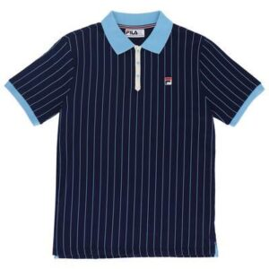 Fila BB1 Borg Striped Polo - Peacoat/Airblue (LM161RMS)