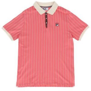 Fila BB1 Borg Striped Polo - Tearose (LM161RMS-TR)