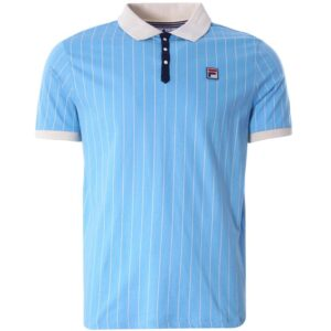 Fila BB1 Borg Striped Polo - Airblue/Seedpearl (LM161RMS-474)